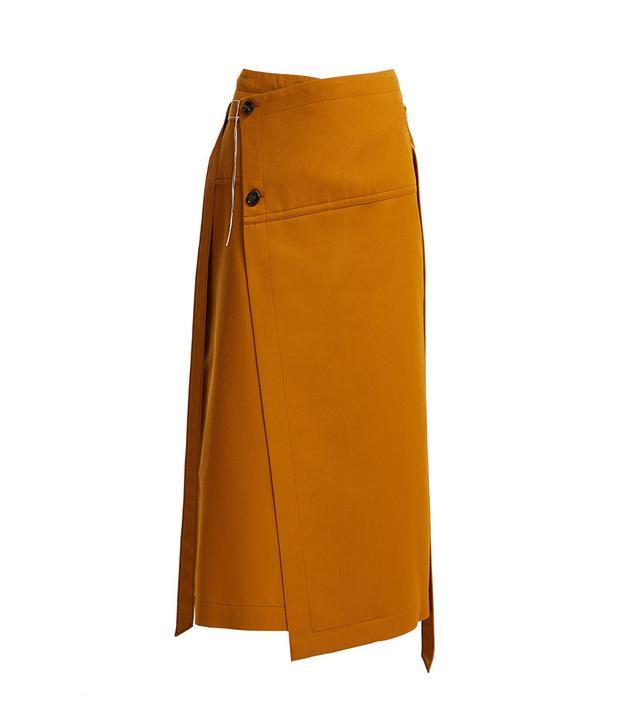 Marni Tie Waist Wool Wrap Skirt