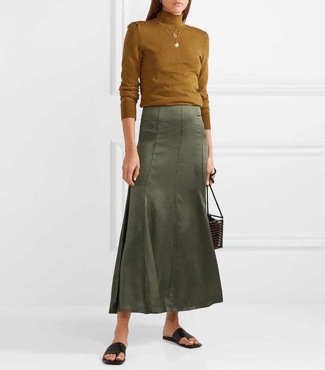 Albus Lumen Silk-Satin Maxi Skirt