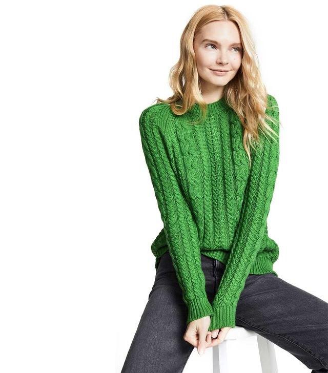 Bop Basics Boxy Cable Knit Sweater