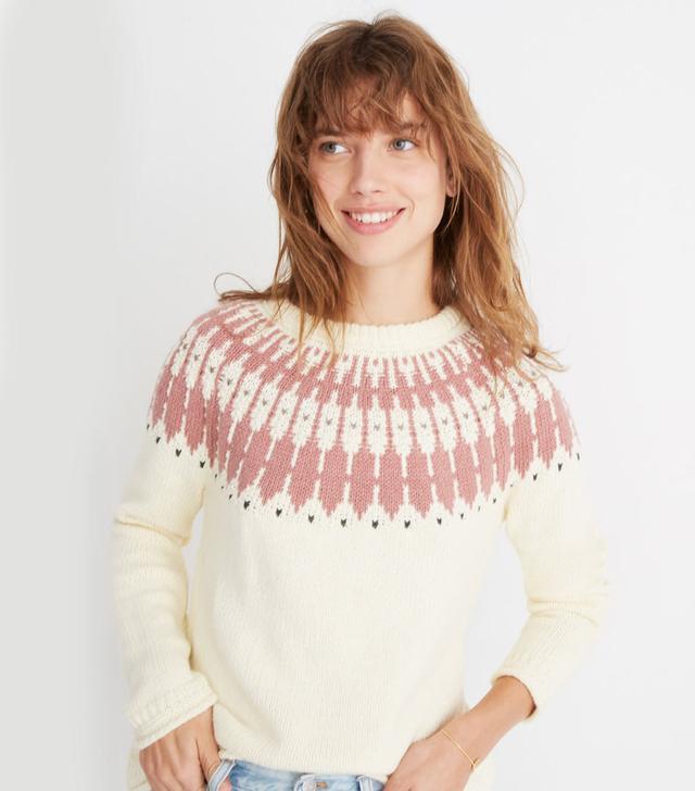Madewell Fair Isle Keaton Pullover Sweater