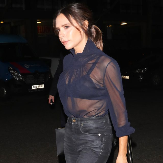 Did Victoria Beckham Just Make This Common Skinny-Jean Mistake Cool?