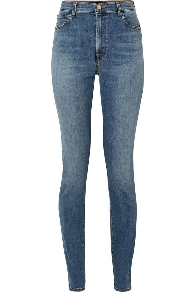 "J Brand Carolina 32"" High-Rise Skinny Jeans"