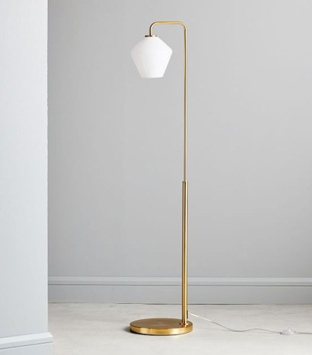 West Elm Sculptural Glass Geo Floor Lamp