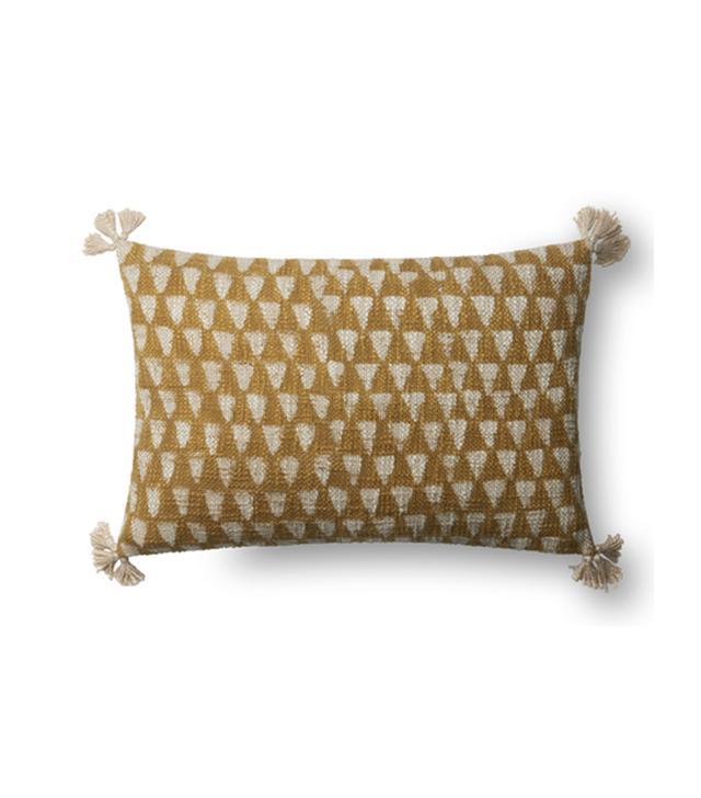 Lulu and Georgia Saydee Lumbar Pillow in Yellow