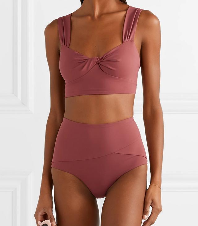 Marysia Lehi Twist-Front Bikini Top