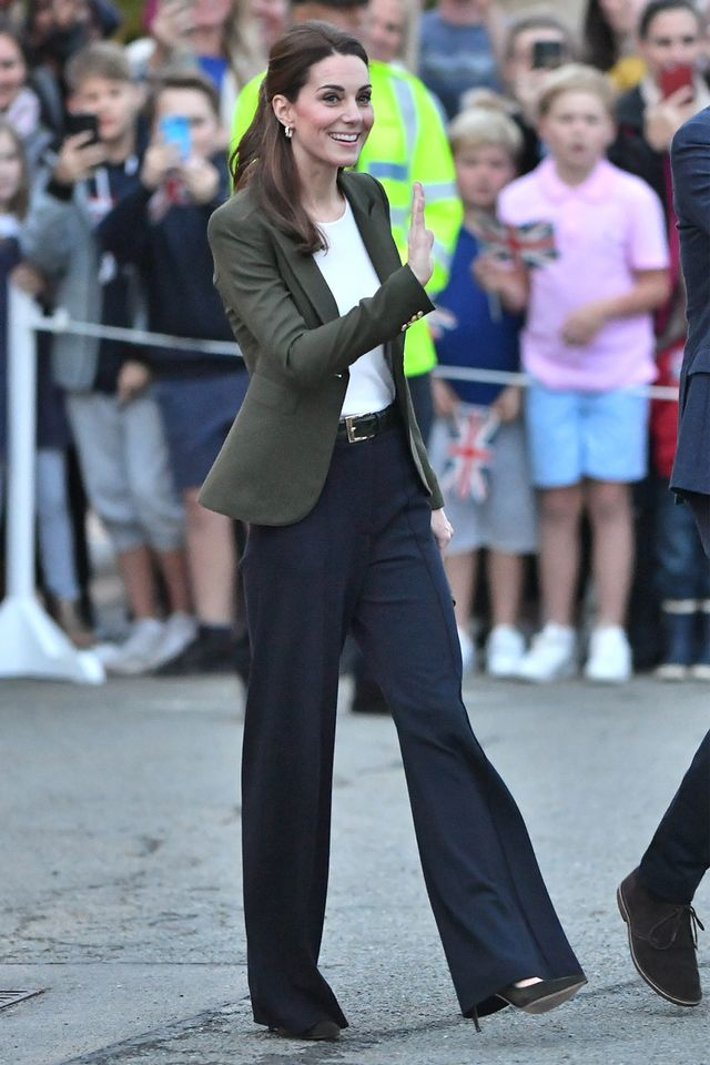 Kate Middleton in wide-leg pants