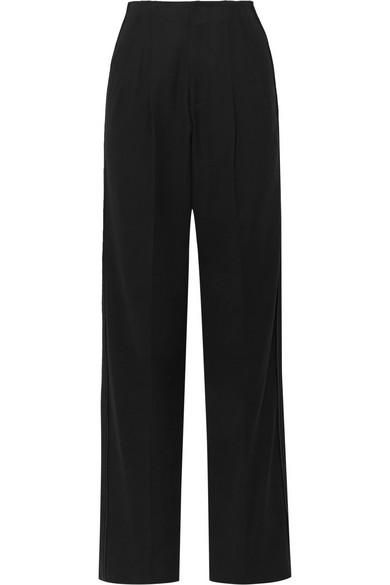 Bassike Cotton-Blend Crepe Wide-Leg Pants