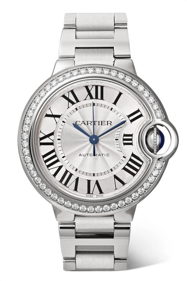 Cartier Ballon Bleu de Cartier Automatic 36mm Stainless Steel and Diamond Watch
