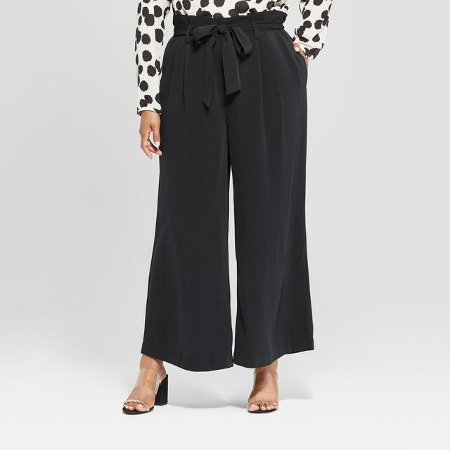 Who What Wear Wide Leg Paperbag Pants