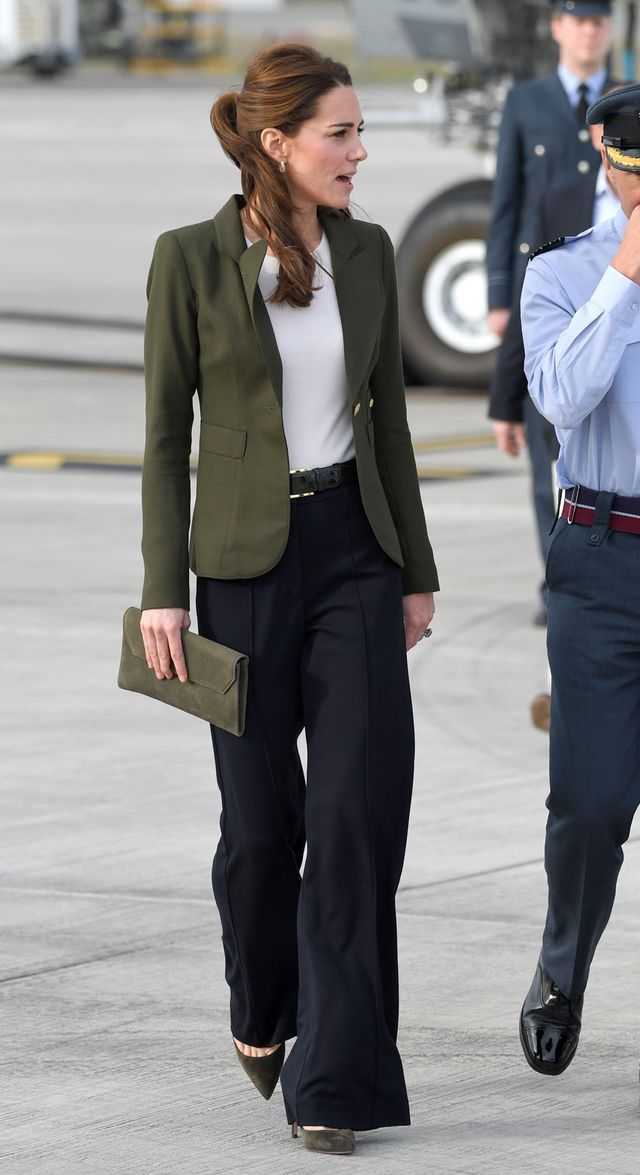 Kate Middleton swapped skinny jeans for wide-leg pants