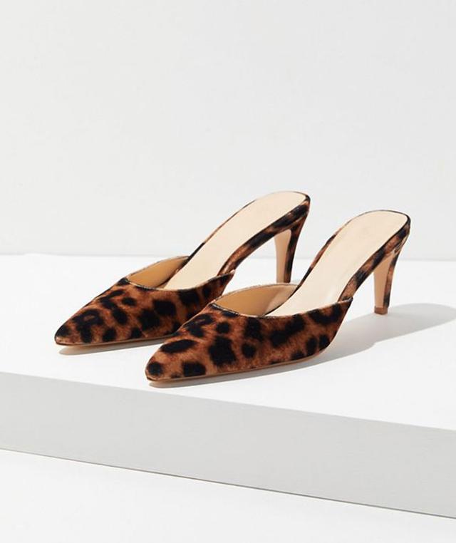 Urban Outfitters UO Leopard Kitten Heel Mules