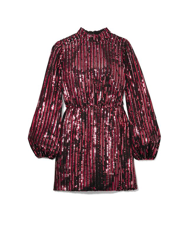 Rixo London Laura Jackson Samantha Sequined Crepe Mini Dress