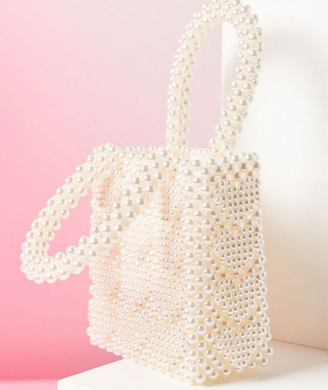 Urban Outfitters UO Winnie Beaded Mini Tote Bag
