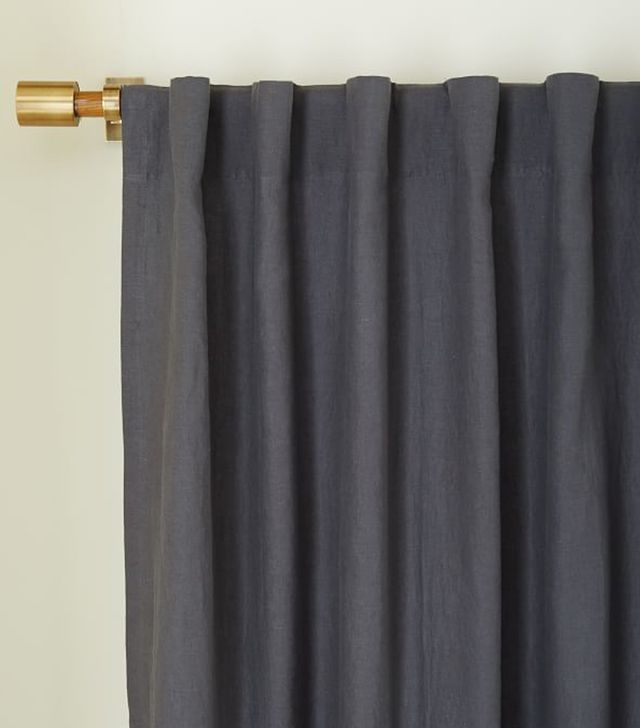 West Elm Belgian Linen Curtain and Blackout Panel