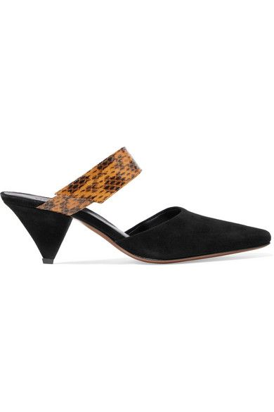 Neous Seven Suede and Elaphe Mules