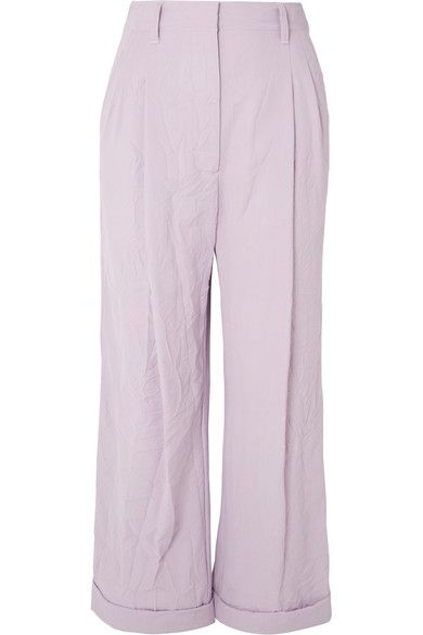 3.1 Phillip Lim Crinkled-Cady Wide-Leg Pants