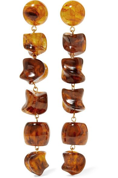 Cult Gaia Leo Gold-Tone Resin Earrings