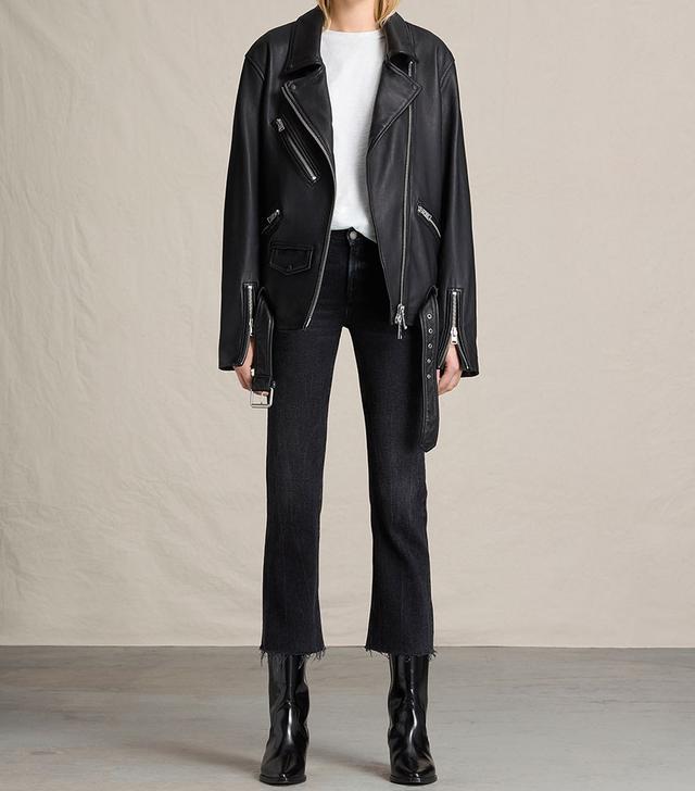 AllSaints Kumara Oversized Leather Jacket