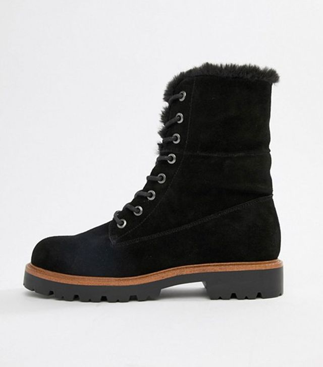 ASOS Apex Suede Lace-Up Boots