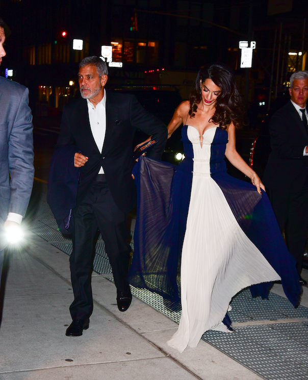 Amal and George Clooney With Their Children