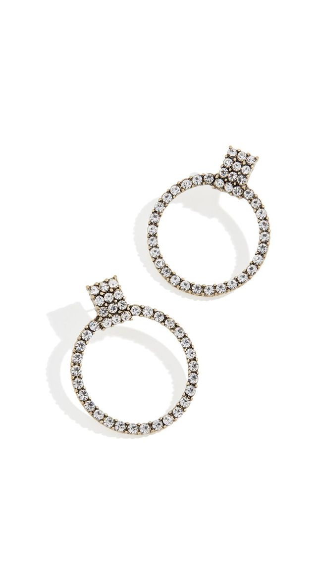 BaubleBar Gemma Hoop Earrings