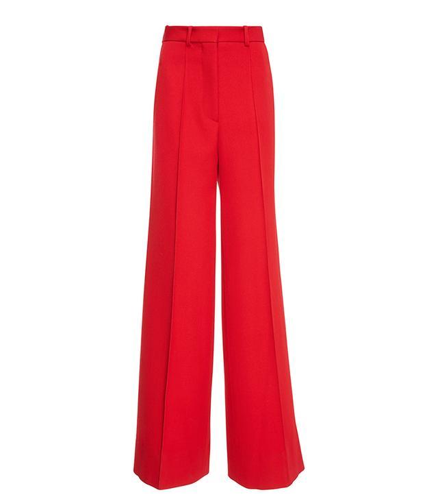 Victoria Beckham Wool-Twill Wide-Leg Pants