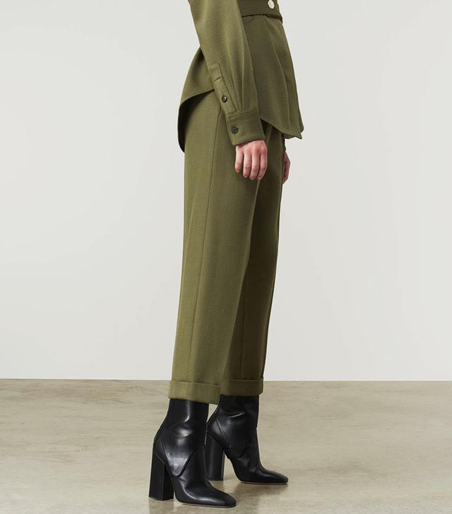 Victoria Beckham High-Waist Pleat Trouser