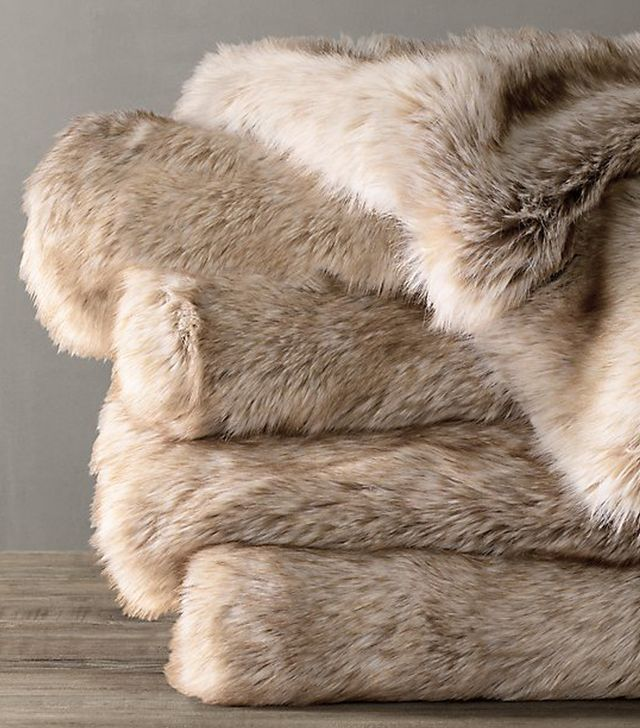 Restoration Hardware Ultimate Faux Fur Throw