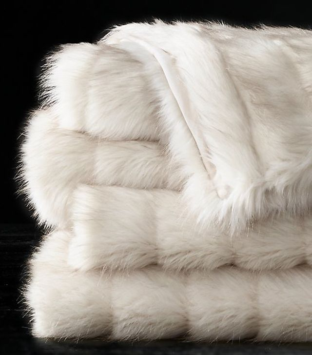 Restoration Hardware Channel Faux Fur Throw