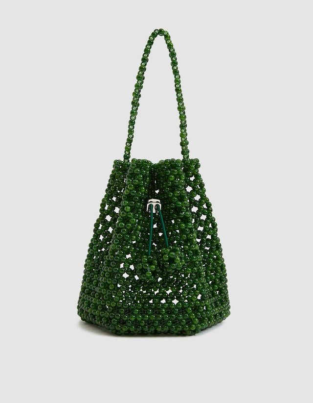 Nt Impressed Tulipa Beaded Bag in Faux Jade