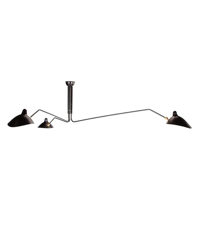 Design Within Reach Serge Mouille Three-Arm Ceiling Lamp, Black by Design Within Reach