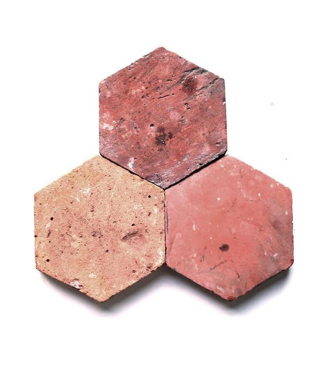 Clé Tile Antique Terra-Cotta Tile in Provincial Red