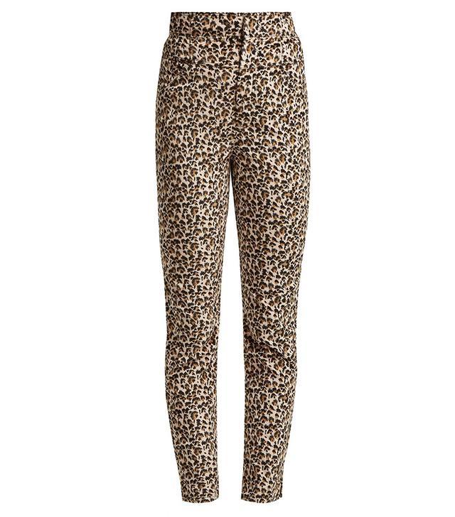 Rebecca Taylor Leopard Print Slim Leg Trousers