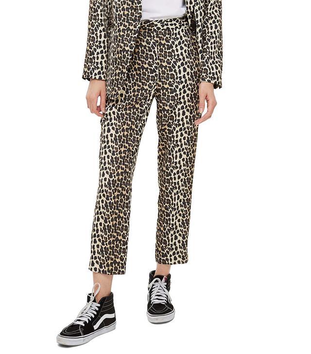 Topshop Leopard Trousers