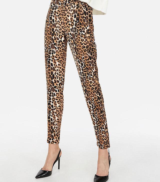 Express High-Waisted Leopard Pants