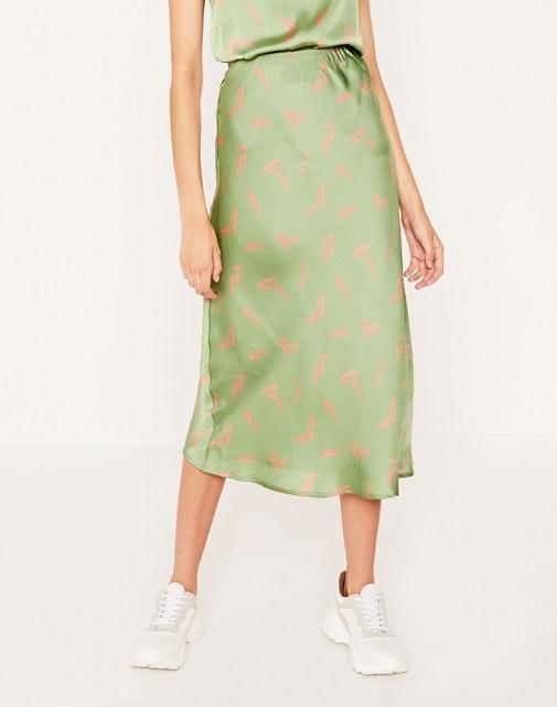 Glassons Floral Silky Midi Skirt