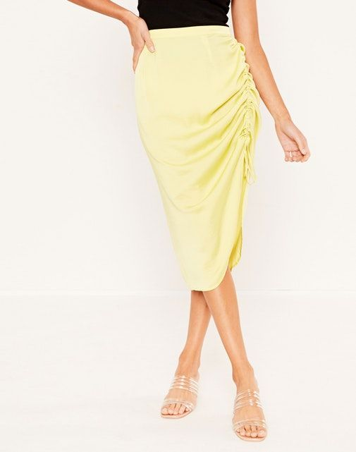 Glassons Rouched Midi Skirt
