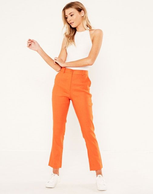 Glassons Skinny Fit Stretch Linen Pant