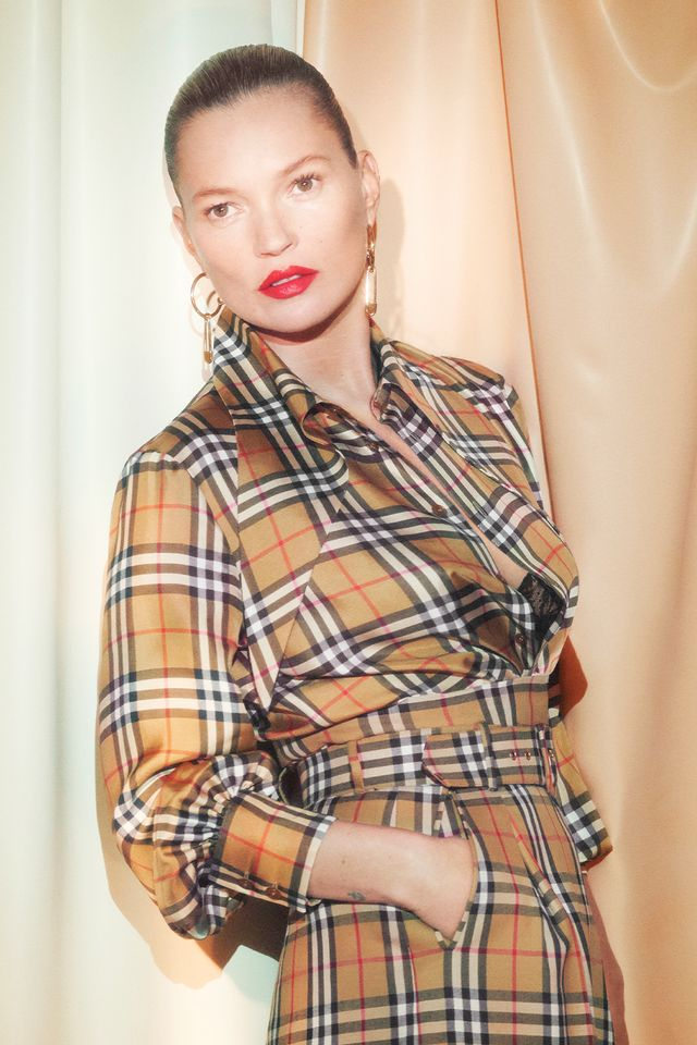 Burberry vintage check: Kate Moss wearing the Vivienne Westwood collaboration
