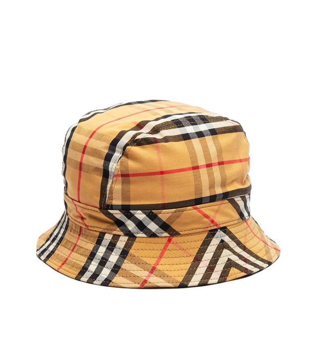 Burberry Checked Cotton Bucket Hat