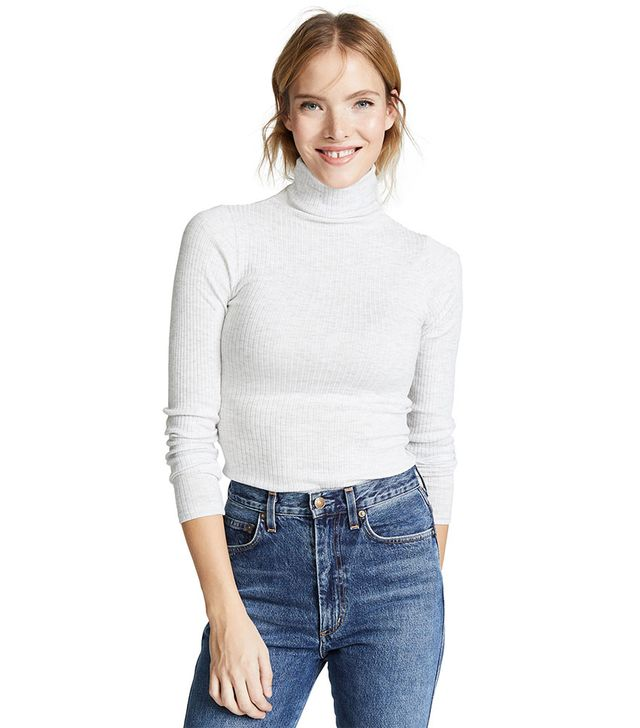 Club Monaco Julie Rib Turtleneck