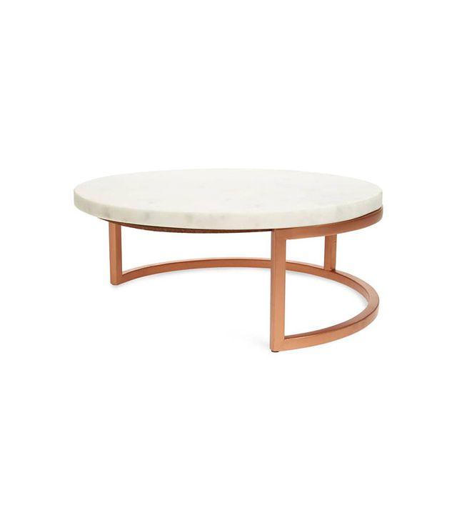 Nordstrom at Home Round Marble Large Pastry Stand