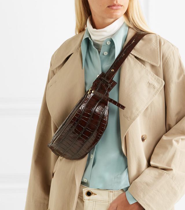 Nanushka Lubo Croc-Effect Leather Belt Bag