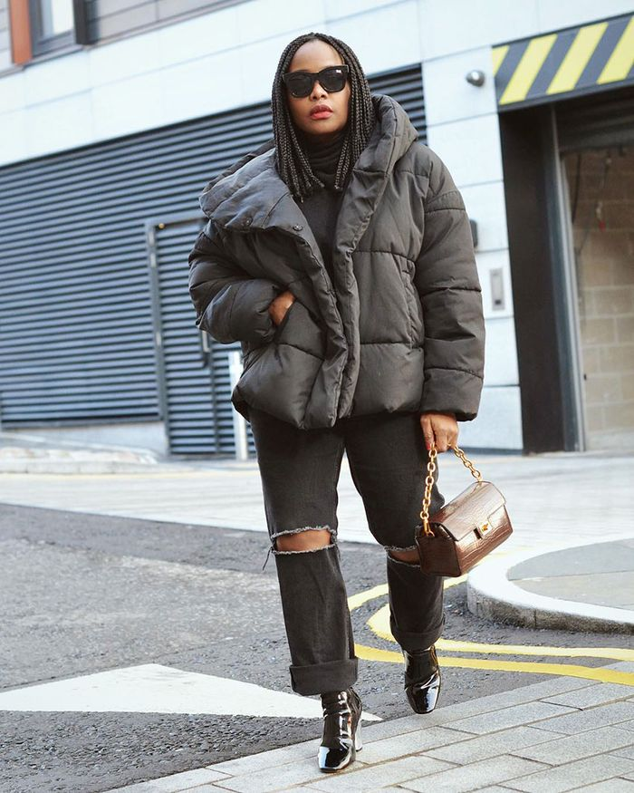 0145c901a48 5 Winter Outfits Featuring Black Ankle Boots and Jeans   Who What Wear