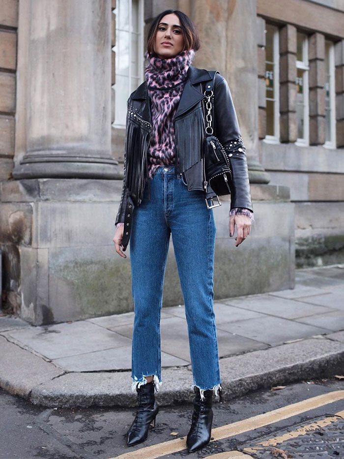 9b1aa22141a 5 Winter Outfits Featuring Black Ankle Boots and Jeans