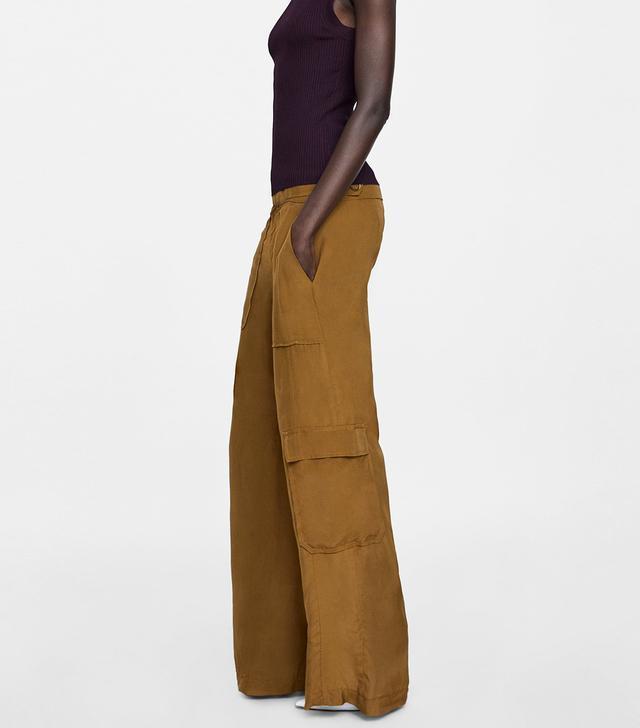 Zara Flowy Cargo Pants
