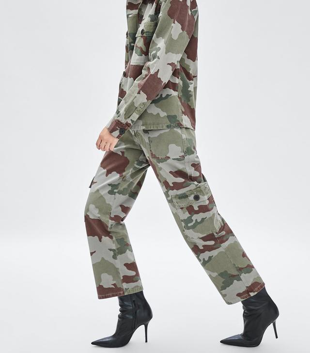 Zara Camouflage Cargo Pants