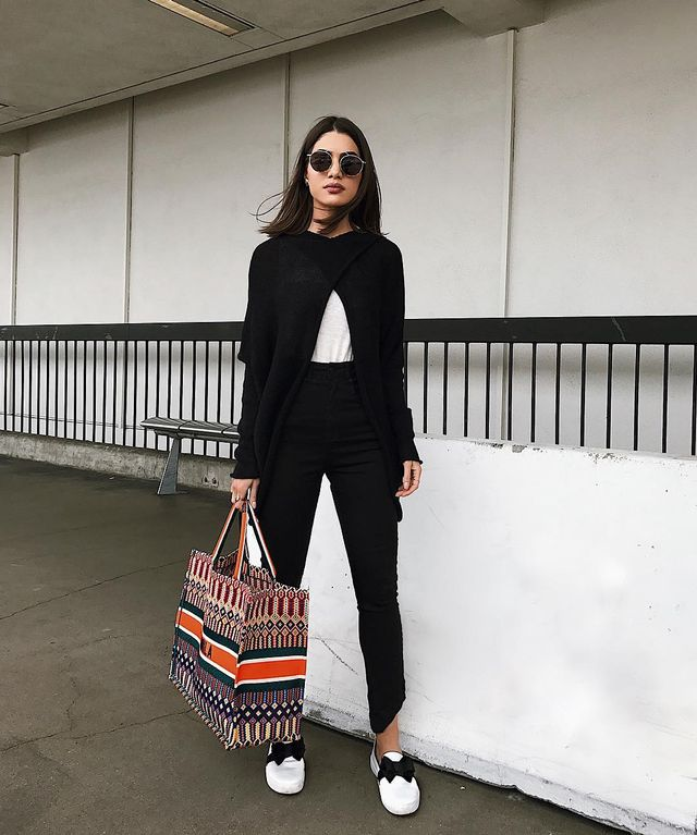 Cool airport outfits with pants