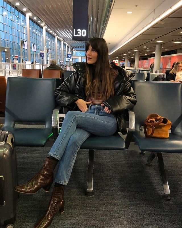 Cool airport outfits with ankle boots