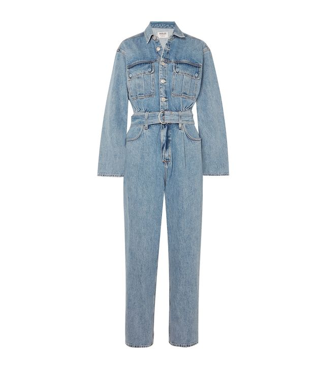 Agolde Tatum Belted Denim Jumpsuit